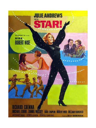 Star!, Julie Andrews on French Poster Art, 1968 Giclee Print