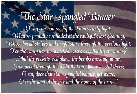 Resource image throughout words to the star spangled banner printable