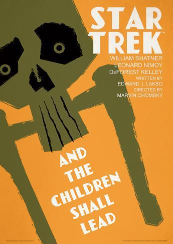 Star Trek - And The Children Shall Lead Vintage Style Television Poster Masterprint