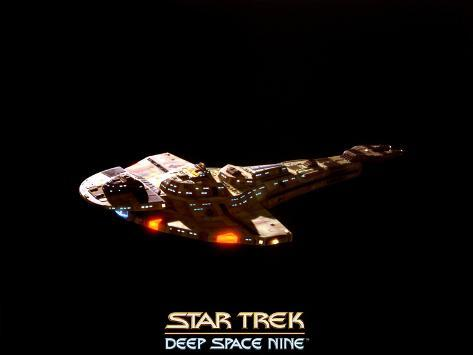 Star Trek: Deep Space Nine, Cardassian WarStarship Stretched Canvas Print