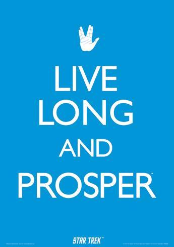 Star Trek - Live Long And Prosper Television Poster Masterprint