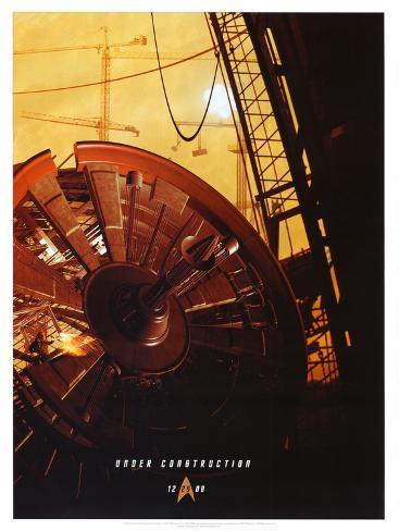 Star Trek Movie Under Construction Poster Print ミニポスター