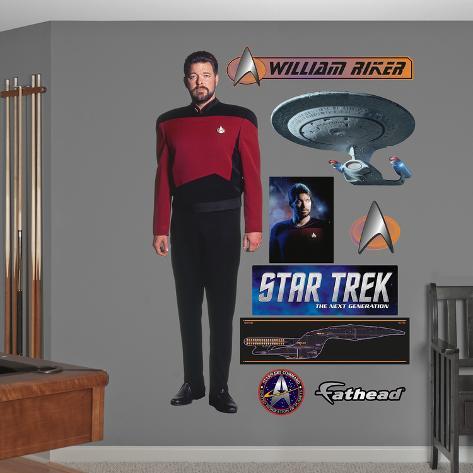 Star Trek Next Generation - Commander William T. Riker Wall Decal