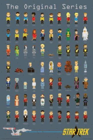 Star Trek- Pixels Poster