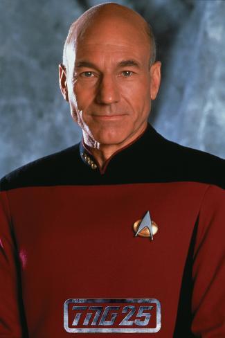 Star Trek: The Next Generation, Captain Jean-Luc Picard Stretched Canvas Print