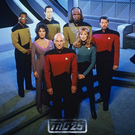 Star Trek: The Next Generation, The Next Generation Crew Stretched Canvas Print
