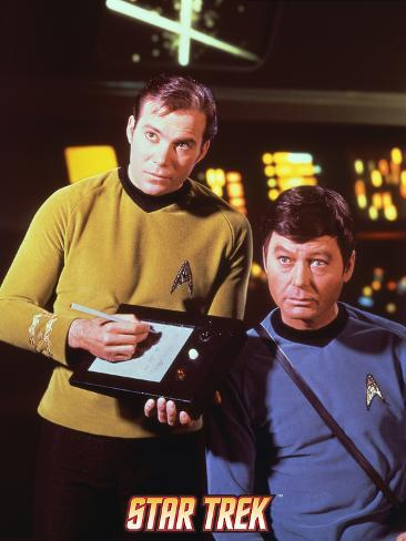 Star Trek: The Original Series, Captain Kirk and Dr. McCoy Stretched Canvas Print
