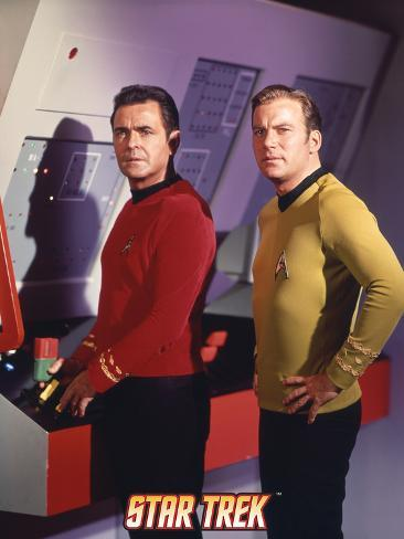 Star Trek: The Original Series, Captain Kirk and Scotty Stretched Canvas Print