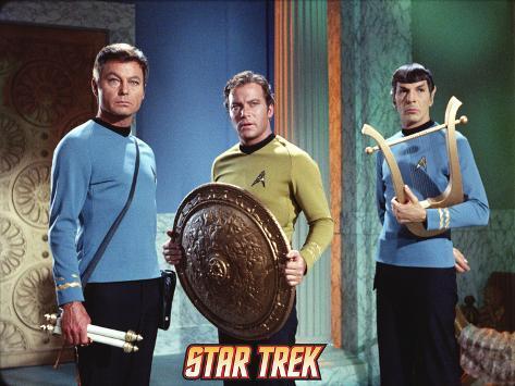 Star Trek: The Original Series, Dr. McCoy, Captain Kirk and Mr. Spock in