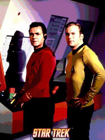 Star Trek: The Original Series, Lt. Leslie and Captain James T. Kirk Stretched Canvas Print