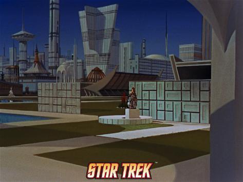 Star Trek: The Original Series, Setting Stretched Canvas Print