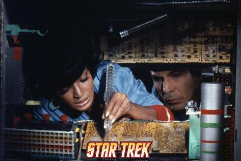 Star Trek: The Original Series, Uhura and Spock Stretched Canvas Print