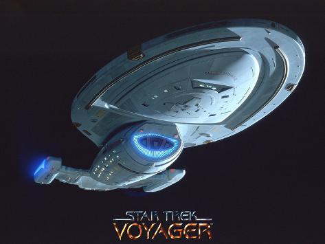 Star Trek: Voyager, USS Voyager Stretched Canvas Print