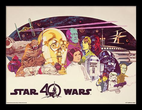 Star Wars 40 Aniversario - Personajes Apaisado Lámina de coleccionista