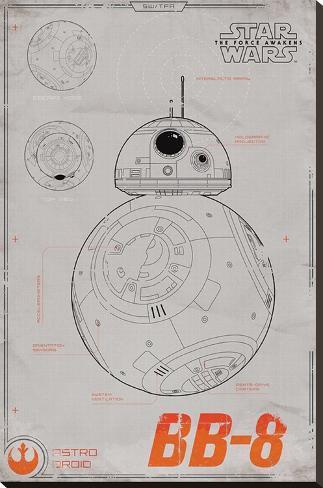Star Wars- Bb-8 Stretched Canvas Print