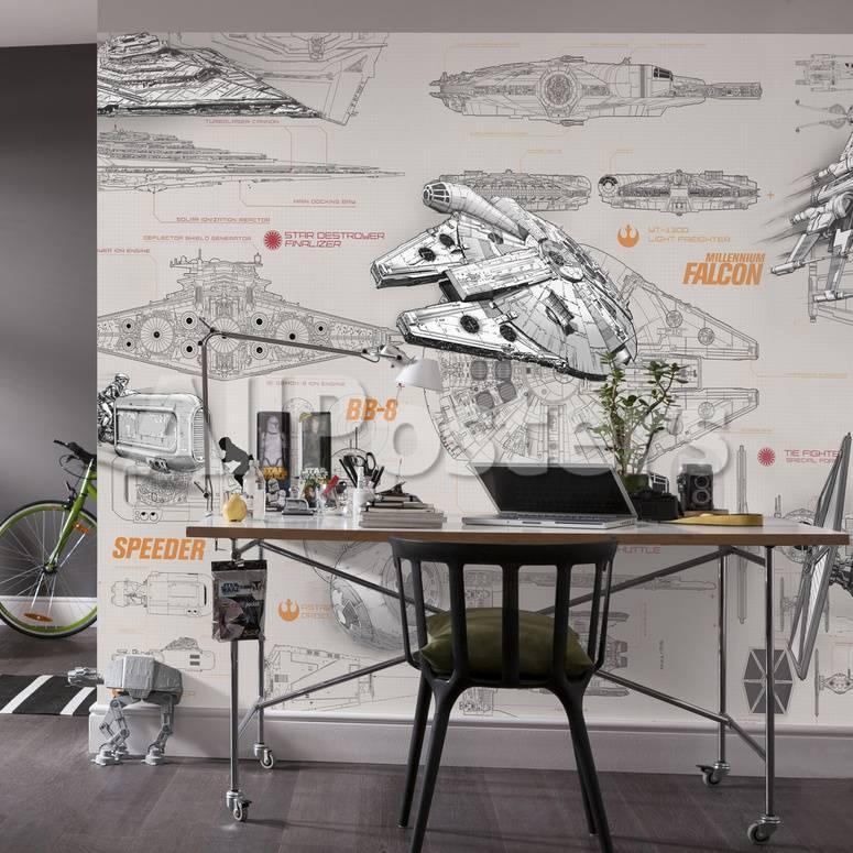 Star Wars - Blueprints Mural de papel pintado en AllPosters.es