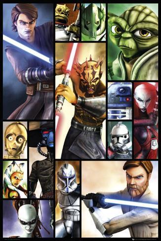 Star Wars - Clone Wars Poster