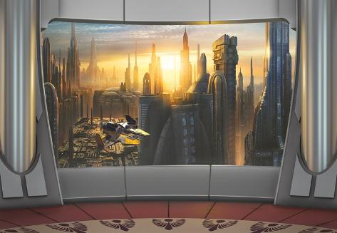 Star Wars - Coruscant View Wallpaper Mural