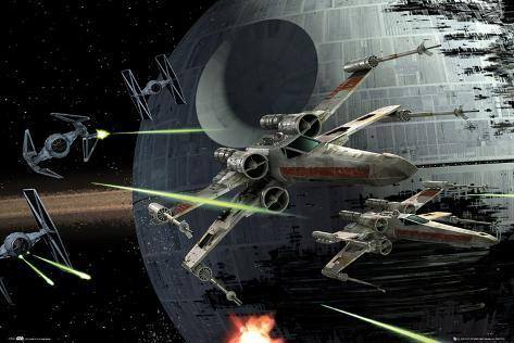 Star Wars - Death Star Battle Poster