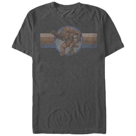 Star Wars- Distressed Rancor Button Camiseta