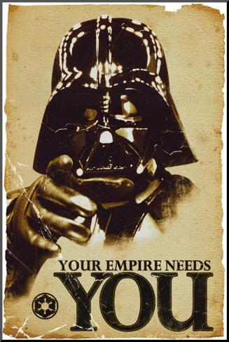 STAR WARS - Empire Needs You Mounted Print