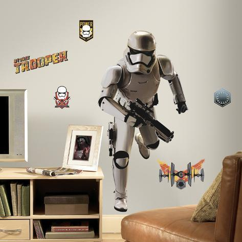Star Wars: Ep VII Storm Trooper Peel & Stick Giant Wall Decal Wall Decal