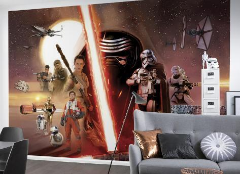 Star Wars - Episode 7 Collage Wallpaper Mural