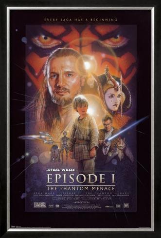 Star Wars - Episode I Pôster emoldurado