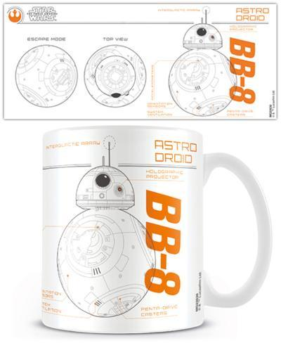 Star Wars Episode VII - BB8 Sketch Mug Tazza