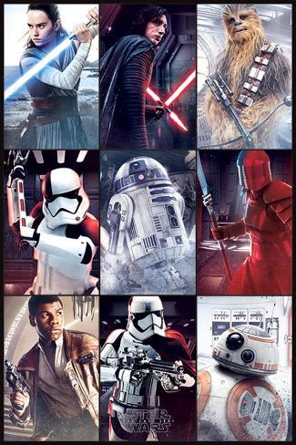 Star Wars: Episode VIII- The Last Jedi -Characters Poster