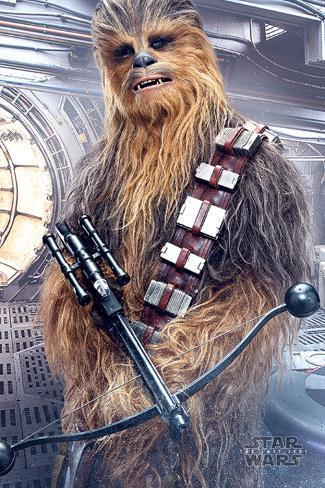 star wars episode viii the last jedi chewbacca bowcaster posters