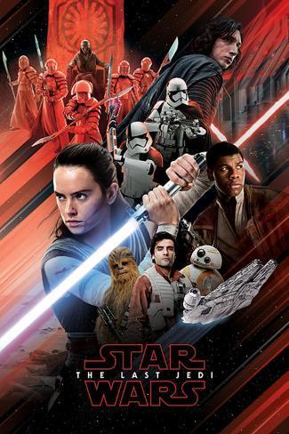 Star Wars: Episode VIII- The Last Jedi - Red Montage Poster