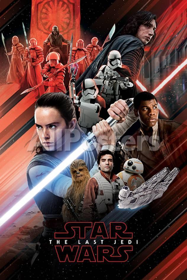 Star Wars Episodio VIII: Los últimos jedi - Cartel rojo Láminas en ...