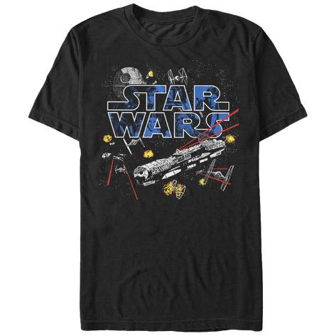 Star Wars- Flight Of The Falcon T-Shirt
