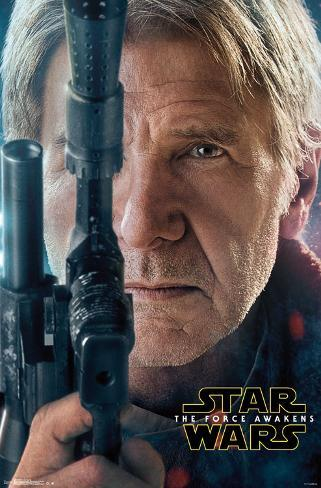 Star Wars Force Awakens- Han Solo Portrait Pôster