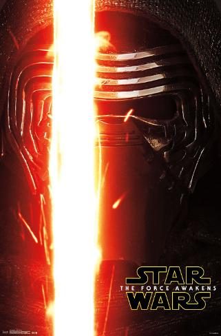Star Wars Force Awakens- Kylo Ren Portrait Pôster