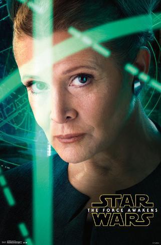 Star Wars Force Awakens- Leia Portrait Pôster