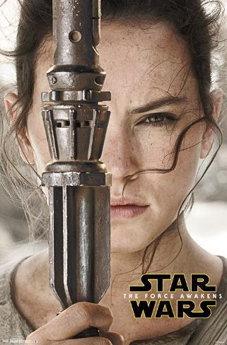 Star Wars Force Awakens- Rey Portrait Pôster