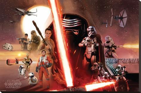 Star Wars- Galaxy Stretched Canvas Print