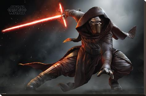 Star Wars- Kylo Ren Crouch Stretched Canvas Print