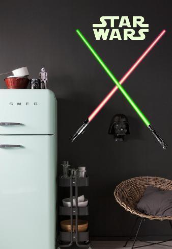 Star Wars - Lightsabers Väggdekal