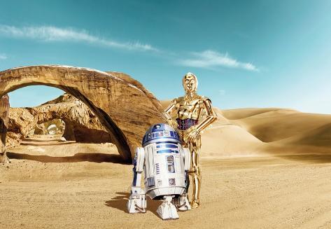 star wars droid wallpaper  Star Wars - Lost Droids Wallpaper Mural - by AllPosters.ie