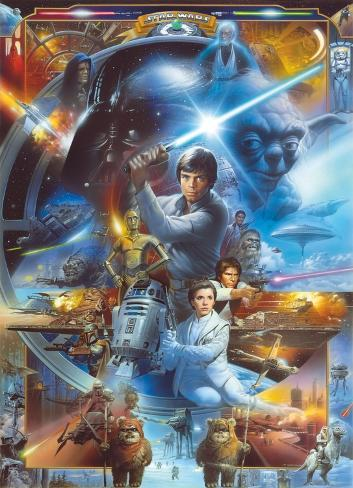 Star Wars - Luke Skywalker Collage Wallpaper Mural
