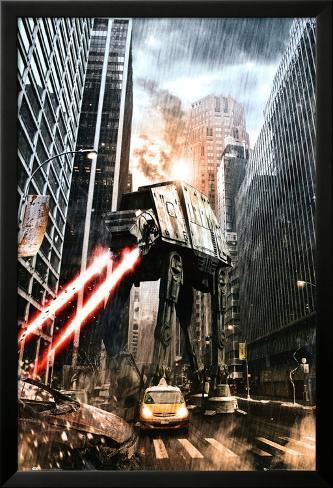 Star Wars-Manhat-atan Lamina Framed Poster