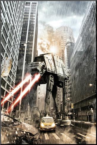 Star Wars-Manhat-atan Mounted Print