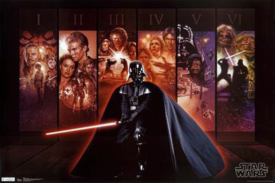 star wars - mural saga collection i-vi prints at