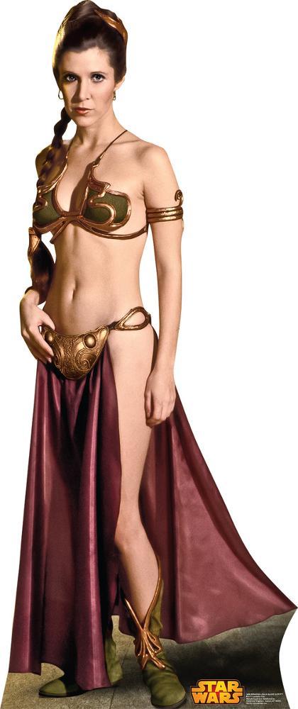 Star Wars Princess Leia Slave Girl Lifesize Standup Cardboard Cutouts Allposters Com