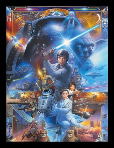 Star Wars - quarantesimo anniversario - collage Stampa del collezionista