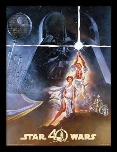 Star Wars - quarantesimo anniversario - una nuova speranza Stampa del collezionista