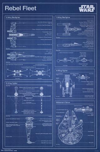 Star Wars- Rebel Blueprint Pôster
